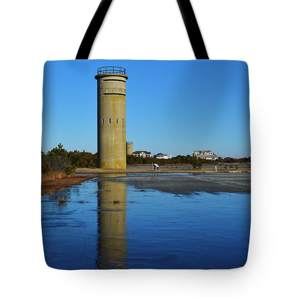 Fire Control Tower 3 Icy Reflection Tote Bag