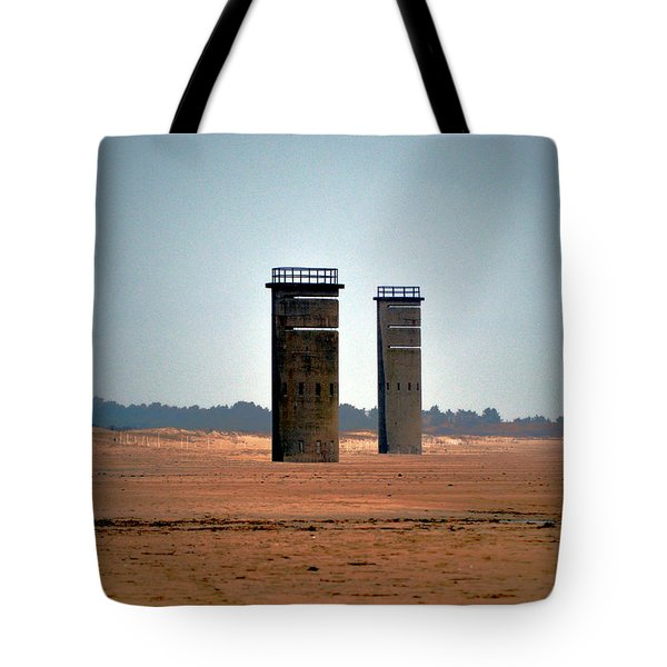 Fct5 And Fct6 Fire Control Towers On The Beach Tote Bag