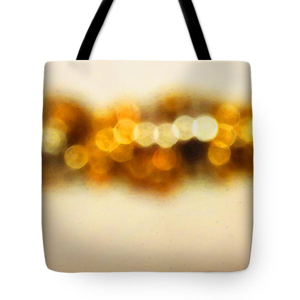 Fire Dance - Warm Sparkling Abstract Art Tote Bag by Sharon Cummings