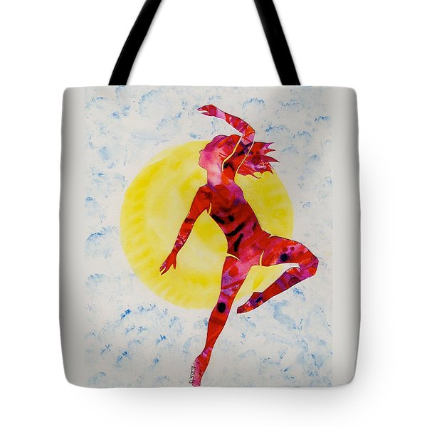 Fire Dancer Tote Bag by Mary Armstrong