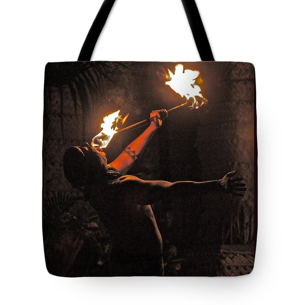 Fire Dancer Tote Bag