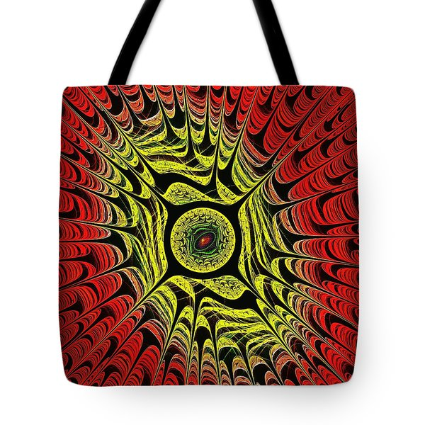 Fire Dragon Eye Tote Bag by Anastasiya Malakhova