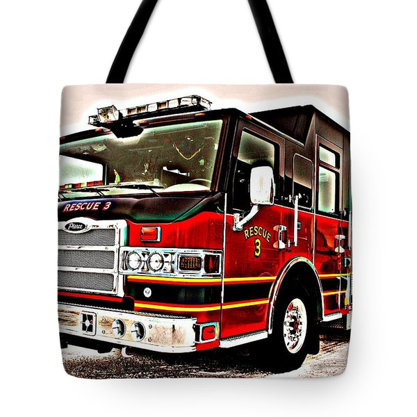Fire Engine Red Tote Bag by Frozen in Time Fine Art Photography