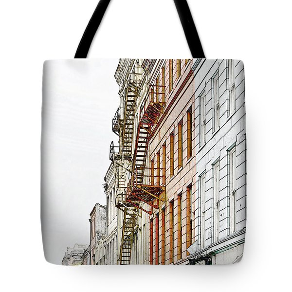 Fire Escapes New Orleans Tote Bag by Christine Till
