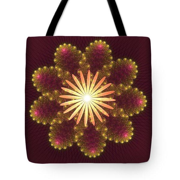 Fire Flower Mandala Tote Bag by Svetlana Nikolova