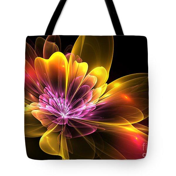 Fire Flower Tote Bag by Svetlana Nikolova