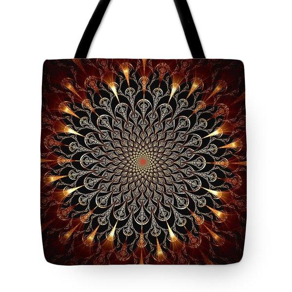 Fire Glyph Tote Bag by Anastasiya Malakhova