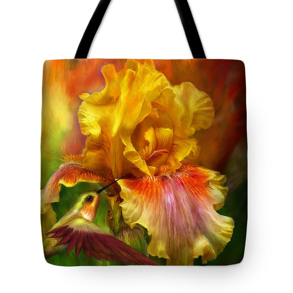 Fire Goddess Tote Bag by Carol Cavalaris