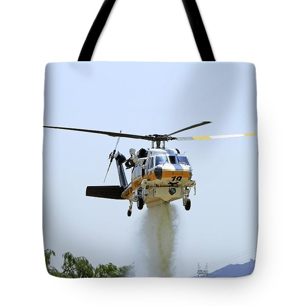 Fire Hawk Water Drop Tote Bag