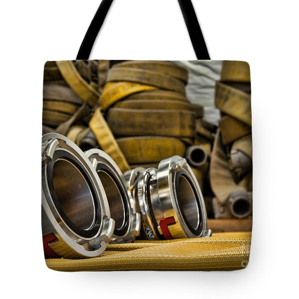 Fire Hoses Tote Bag