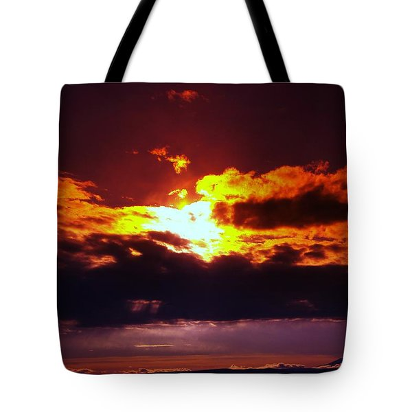 Fire In The Clouds Tote Bag by Jeff Swan