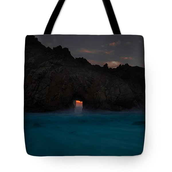 Fire In The Hole.... Big Sur Tote Bag