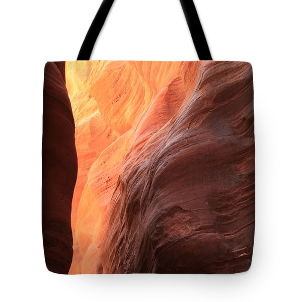 Fire In The Middle Tote Bag