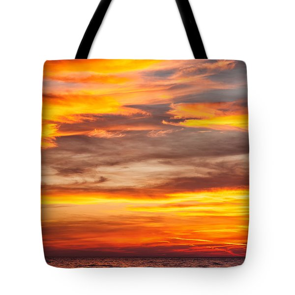 Fire In The Sky Tote Bag by Brian Boudreau