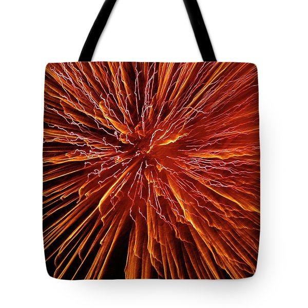 Fire In The Sky Tote Bag by Carolyn Marshall