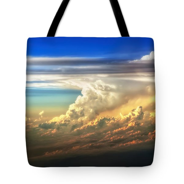 Fire In The Sky From 35000 Feet Tote Bag
