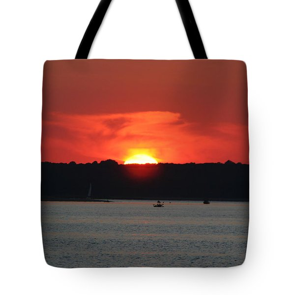 Tote Bag featuring the photograph Fire In The Sky by Karen Silvestri