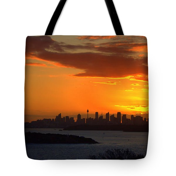 Tote Bag featuring the photograph Fire In The Sky by Miroslava Jurcik