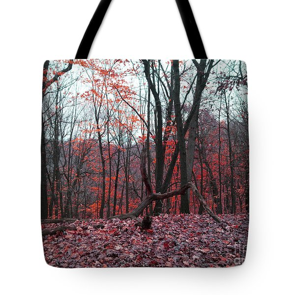 Fire In The Woodland Tote Bag