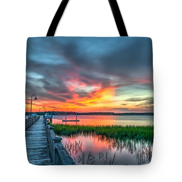 Fire Light Tote Bag
