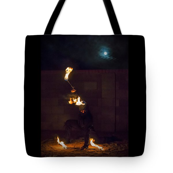 Fire Ninja Tote Bag