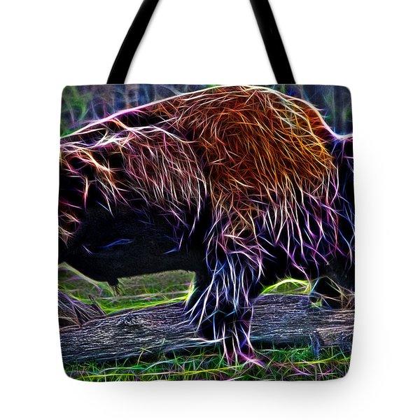 Fire Of A Bison  Tote Bag by Miroslava Jurcik