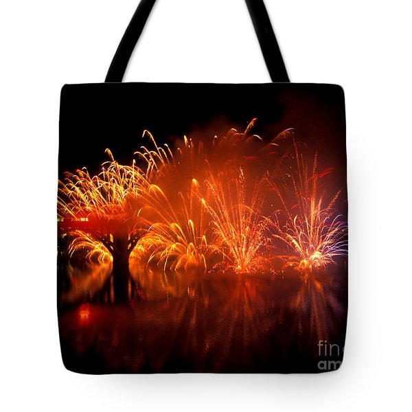 Fire On The Water Tote Bag