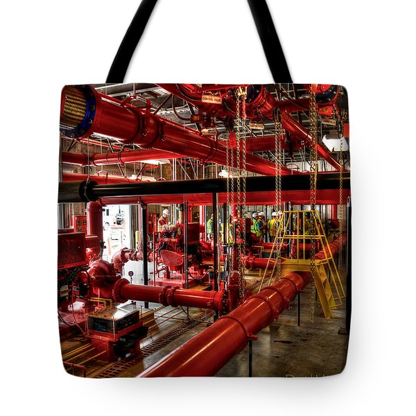 Fire Pumps Tote Bag