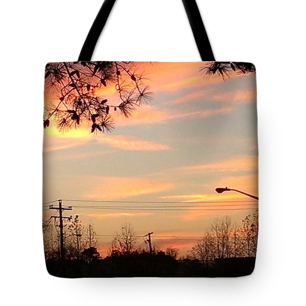 Fire Sky Tote Bag by Thomasina Durkay