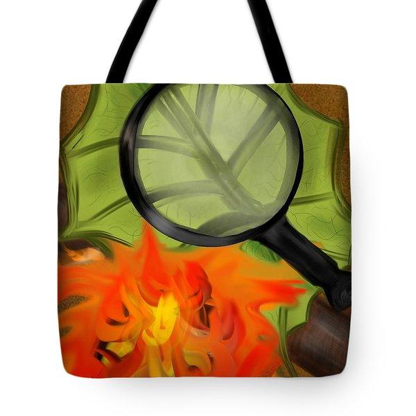 Fire Starter Tote Bag by Christine Fournier