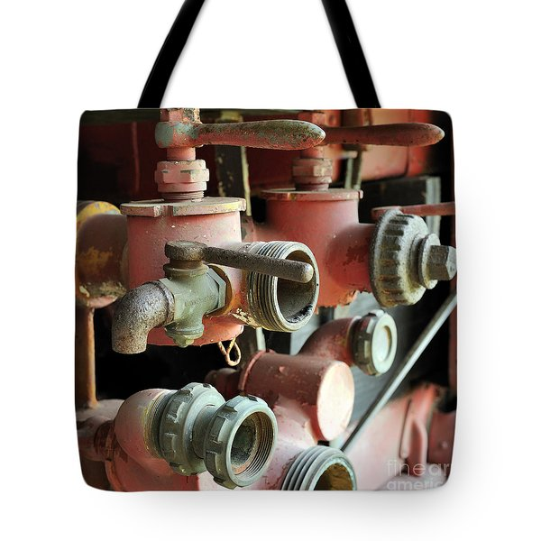 fire Truck valves 20x20 Tote Bag