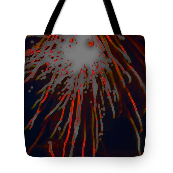Tote Bag featuring the photograph Fire Works by Mae Wertz