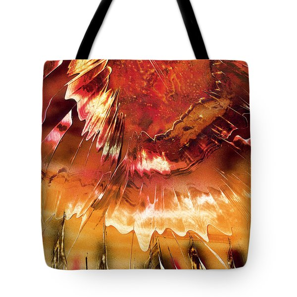 Tote Bag featuring the painting Fired by Jason Girard