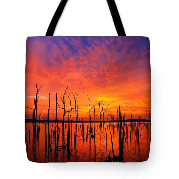 Fired Up Morn Tote Bag by Roger Becker