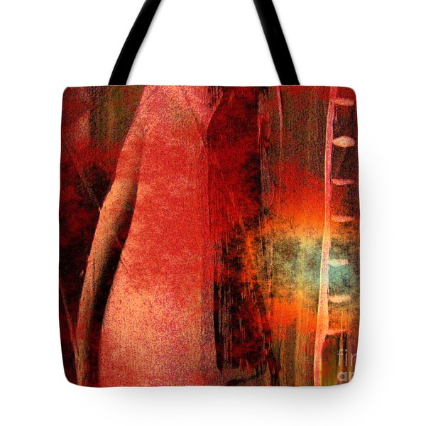 Tote Bag featuring the painting Firefall  by Yul Olaivar