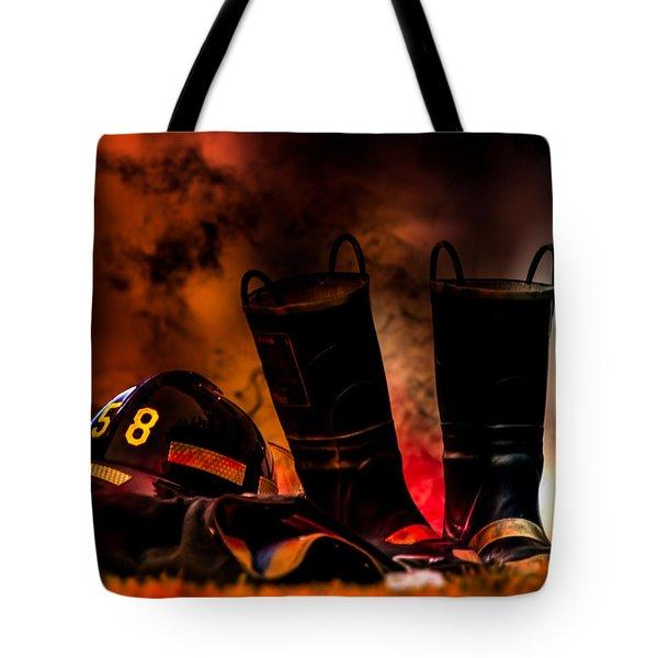 Firefighter Tote Bag by Bob Orsillo