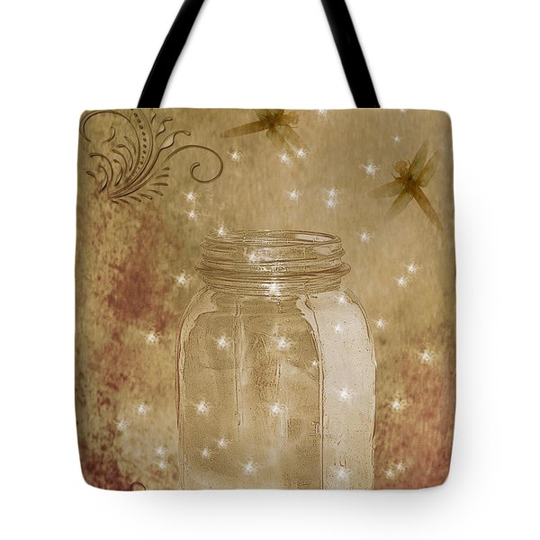 Fireflies And Dragonflies Tote Bag