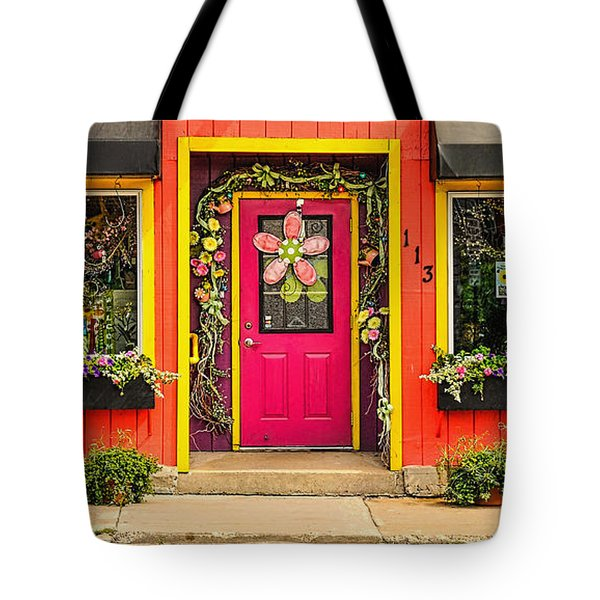 Tote Bag featuring the photograph Firefly Floral Shop by Trey Foerster