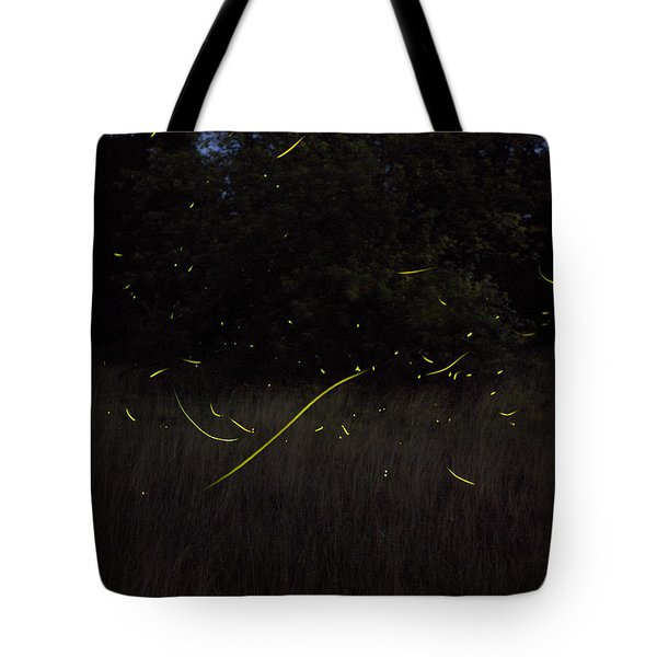 Firefly Traces On A Summer Night Tote Bag
