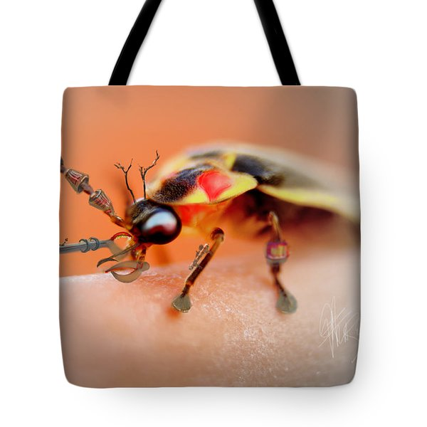 Tote Bag featuring the photograph Firefly Warrior by Chris Fraser