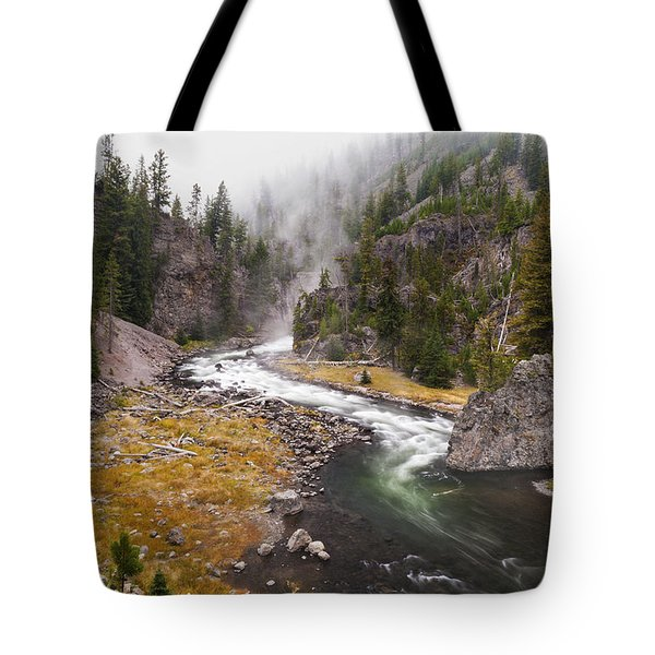 Firehole Canyon - Yellowstone Tote Bag by Brian Harig