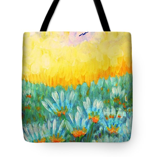 Tote Bag featuring the painting Firelight by Holly Carmichael