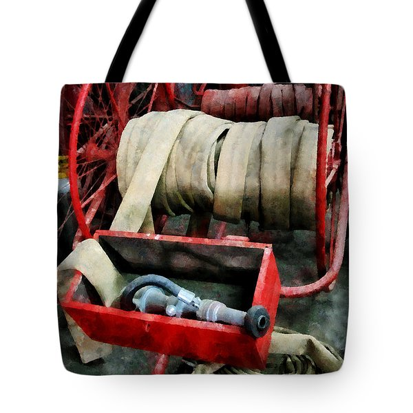 Fireman - Fire Hoses Tote Bag by Susan Savad