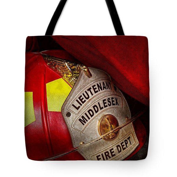 Fireman - Hat - Everyone Loves Red Tote Bag by Mike Savad