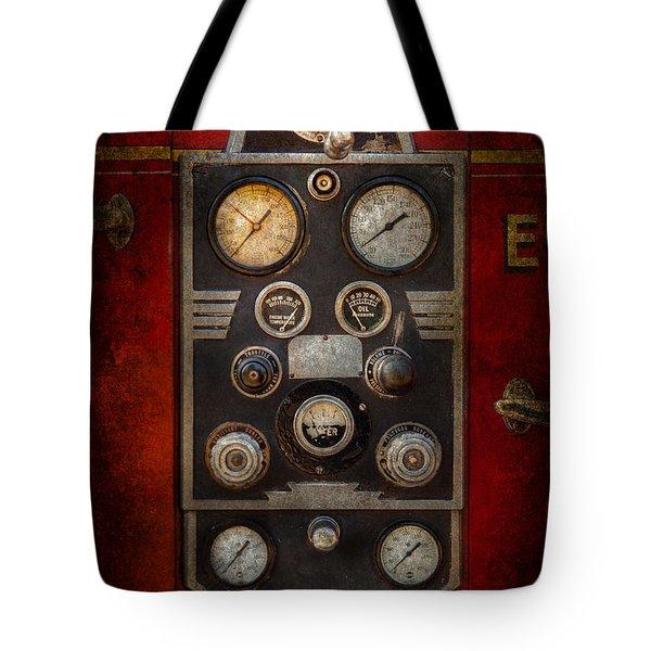 Fireman - Keep An Eye On The Pressure  Tote Bag by Mike Savad