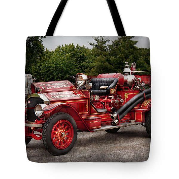 Fireman - Phoenix No2 Stroudsburg Pa 1923  Tote Bag by Mike Savad