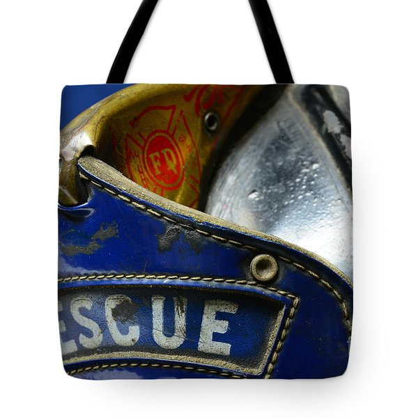 Fireman Rescue Tote Bag by Paul Ward