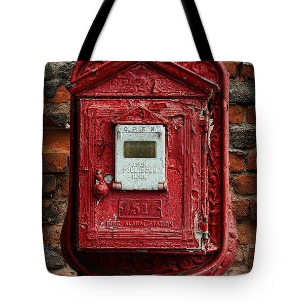 Fireman - The Fire Alarm Box Tote Bag