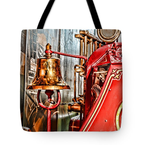 Fireman - The Fire Bell Tote Bag by Paul Ward