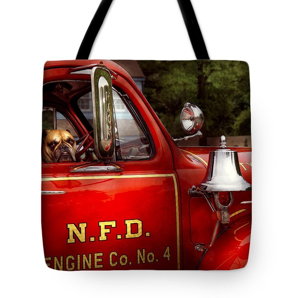 Fireman - This Is My Truck Tote Bag by Mike Savad